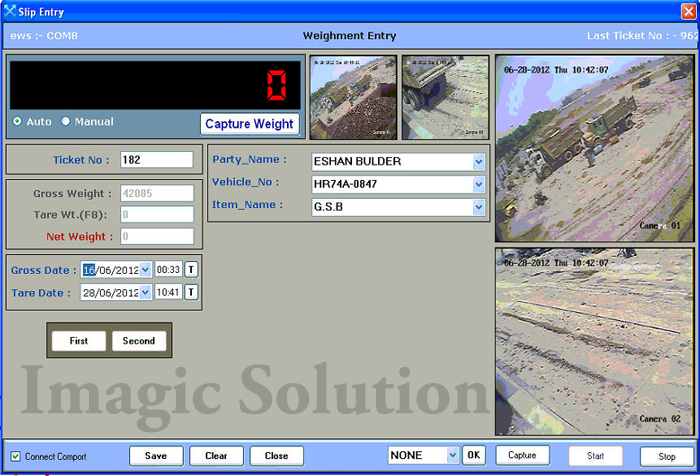 cctv weighbridge software with 2 cam