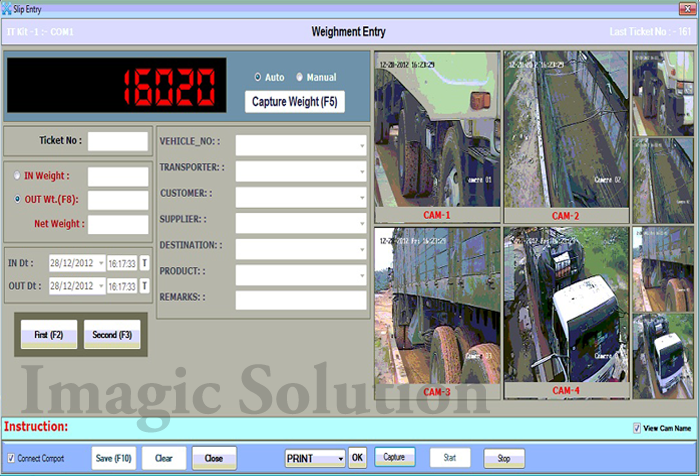 cctv weighbridge software with 4 cam