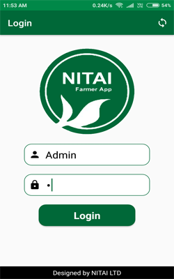 tea farmer App Login screen