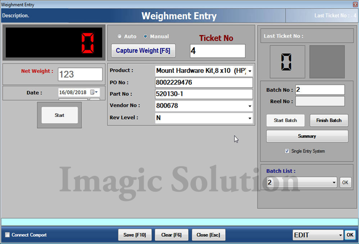 Label-Printing-Software-Entry-screen