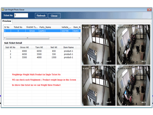CCTV Weighbridge Multii Product Software Image Viewer