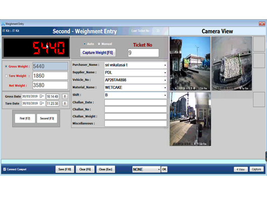 weighbridge cctv data collection software